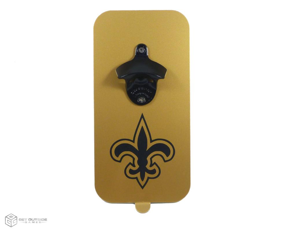 Fleur de lis magnetic bottle opener w powder coated opener black gold - Fleur de lis bottle opener ...