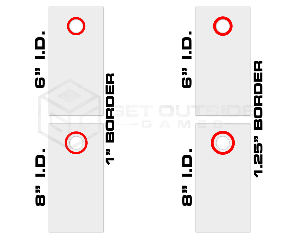 cornhole board circle decals set of 2 multiple sizes u0026 30 color options