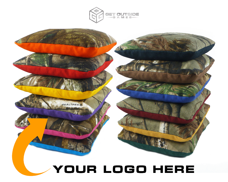 Camo Tote Carry Bags *holds up to 10 cornhole bags*