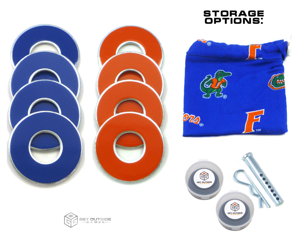 8 Gators Color VVashers™ w/ Storage Options