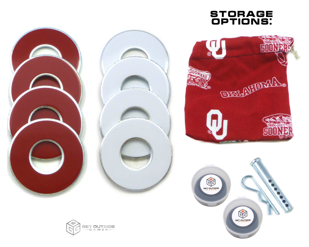 8 Sooners Color VVashers™ w/ Storage Options