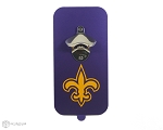 Fleur de Lis Magnetic Bottle Opener | Purple & Golden Yellow