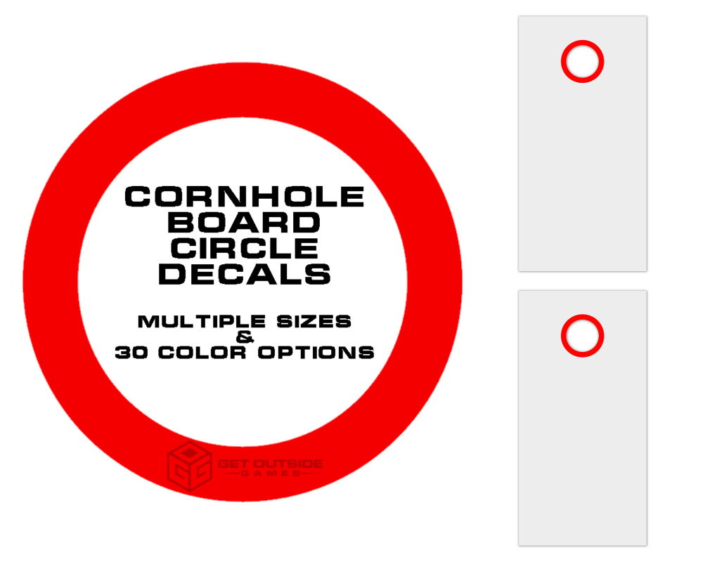 Cornhole Board Circle Decals | Set of 2 | Multiple Sizes & 30 Color Options