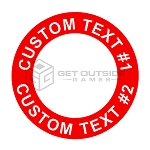 Custom Text Cornhole Board Circle Decals | Set of 2 | Multiple Sizes & 30 Color Options
