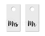 Mr & Mrs Cornhole Board Decals | Set of 2 | 30 Color Options