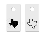 State Cornhole Board Decals | Set of 2 | 30 Color Options