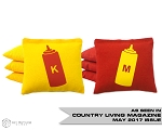 Set of 8 Ketchup & Mustard Classic Series Cornhole Bags