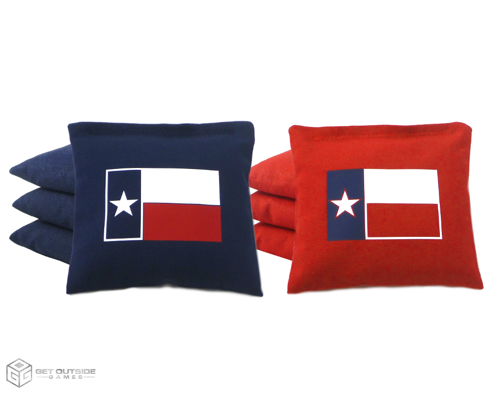 Set of 8 Texas Flag Classic Series Cornhole Bags