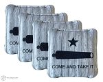 4 Wood Grain Come and Take It Premium Cornhole Bags