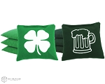 Set of 8 Beer & Shamrock Classic Series Cornhole Bags