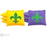 Set of 8 Mardi Gras Classic Series Cornhole Bags