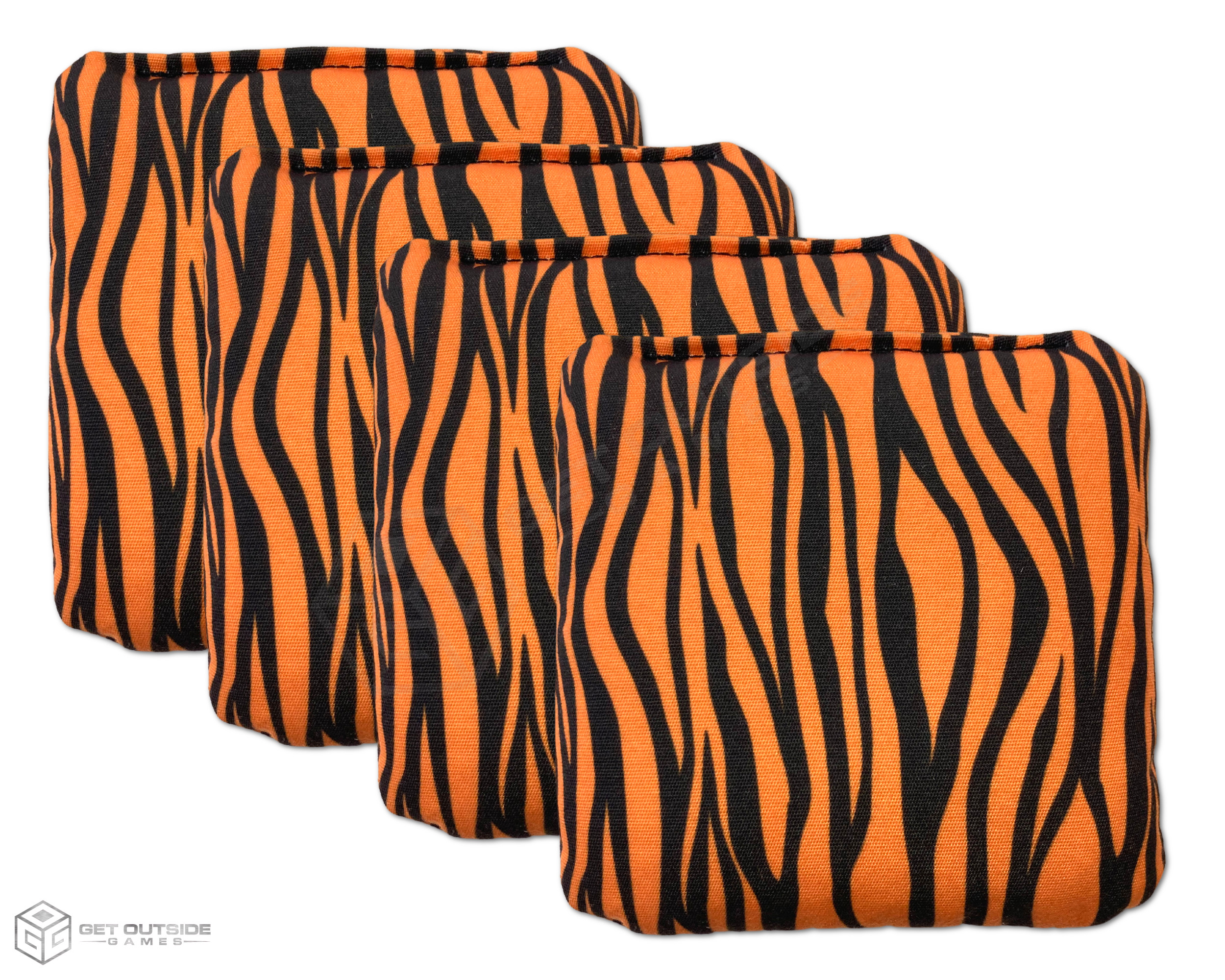 4 Tiger Stripes Premium Cornhole Bags