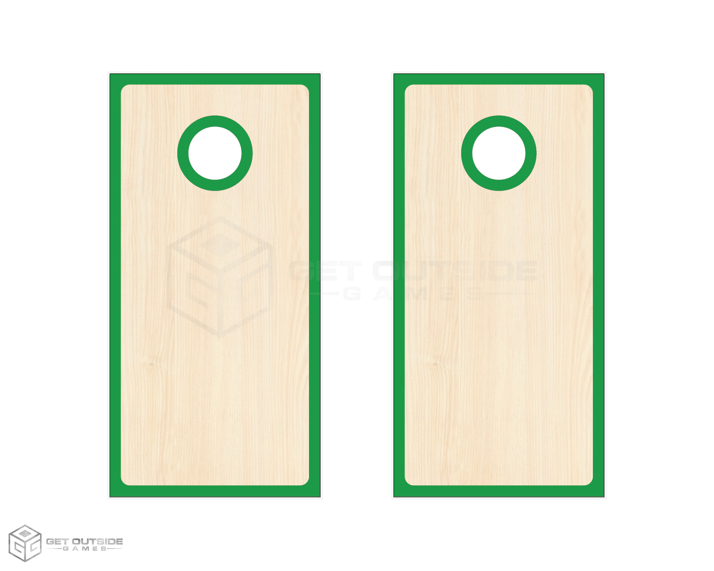 Radius Border Cornhole Boards