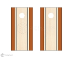 Double Side Stripe Cornhole Boards - Orange & Gray