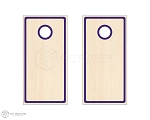Inset Radius Border Cornhole Boards