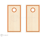 Inset Square Border Cornhole Boards