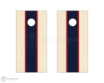 Tri Center Stripe Cornhole Boards - Navy & Red