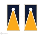 Tri Path 3 Cornhole Boards - Navy & Yellow