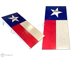 Texas Flag Cornhole Boards - Natural Wood