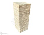 Premium Tabletop Tower Block Set - 1x3 - 54 or 60 Blocks