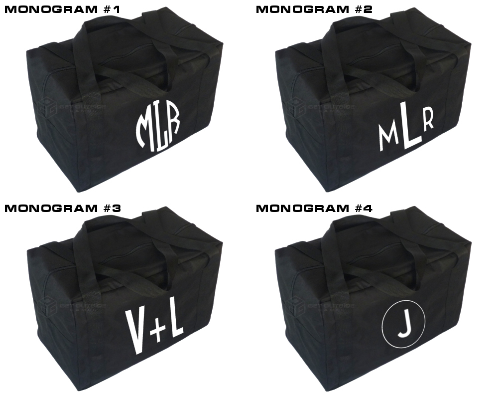 Monogram Carry Case & Storage Bag for Giant Tumble Tower Block Games