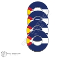 Colorado Flag VVashers™ - Set of 4