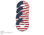 United States Flag VVashers™ - Set of 4