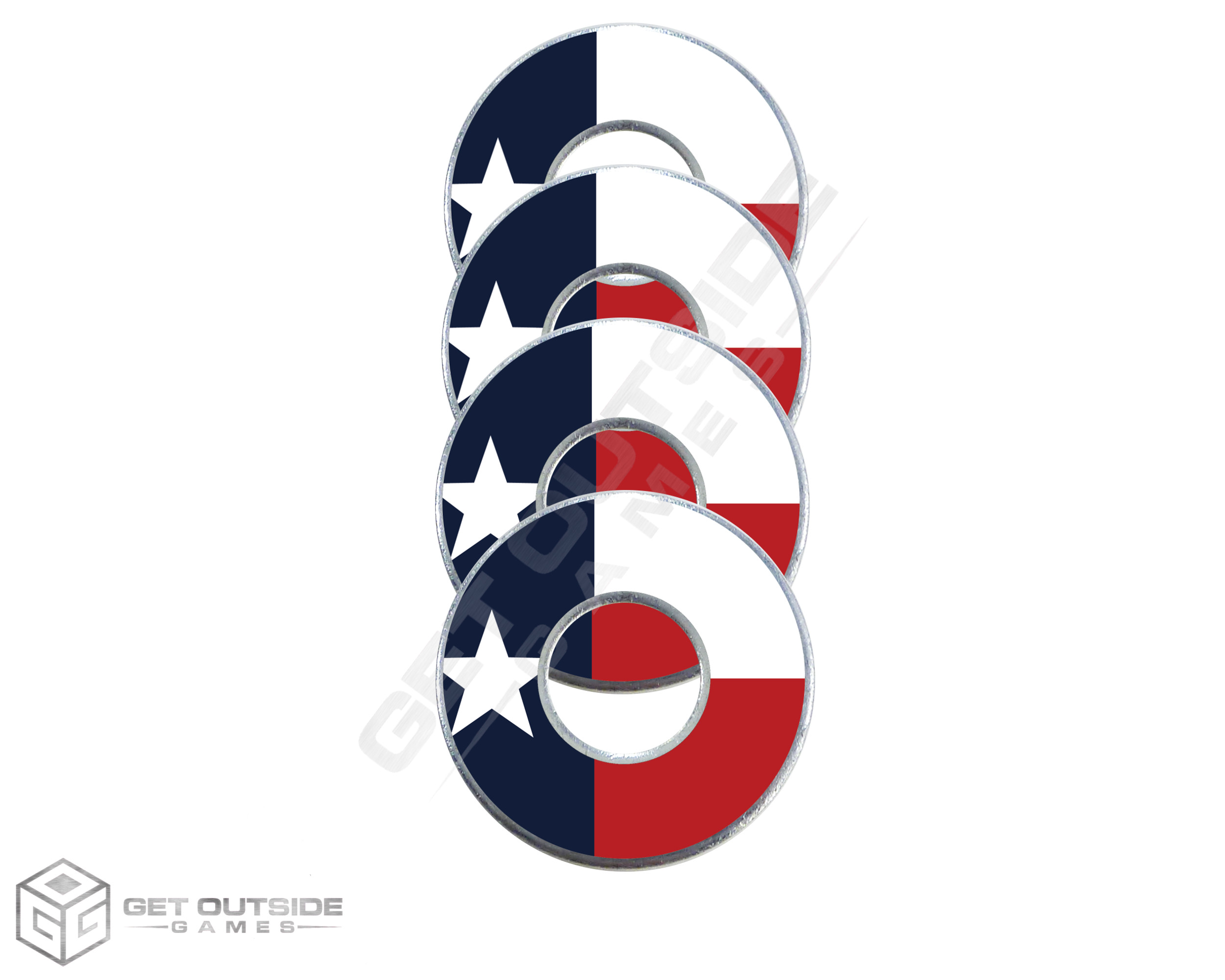 Texas Flag VVashers™ - Set of 4
