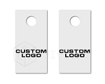 Custom Logo Cornhole Board Decals 1 Color | Set of 2 | 30 Color Options
