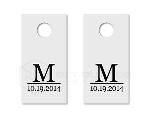 Anniversary Wedding Date Cornhole Board Decals | Set of 2 | 30 Color Options