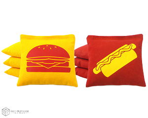 Set of 8 Hamburger & Hot Dog Classic Series Cornhole Bags